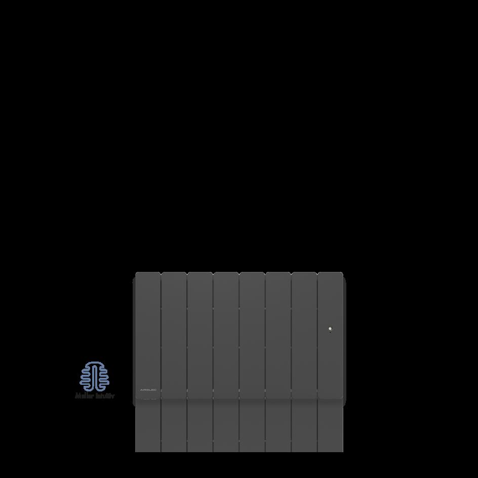 Radiateur électrique Airelec Fontéa Bas - Anthracite d'une puissance de 1000 W
