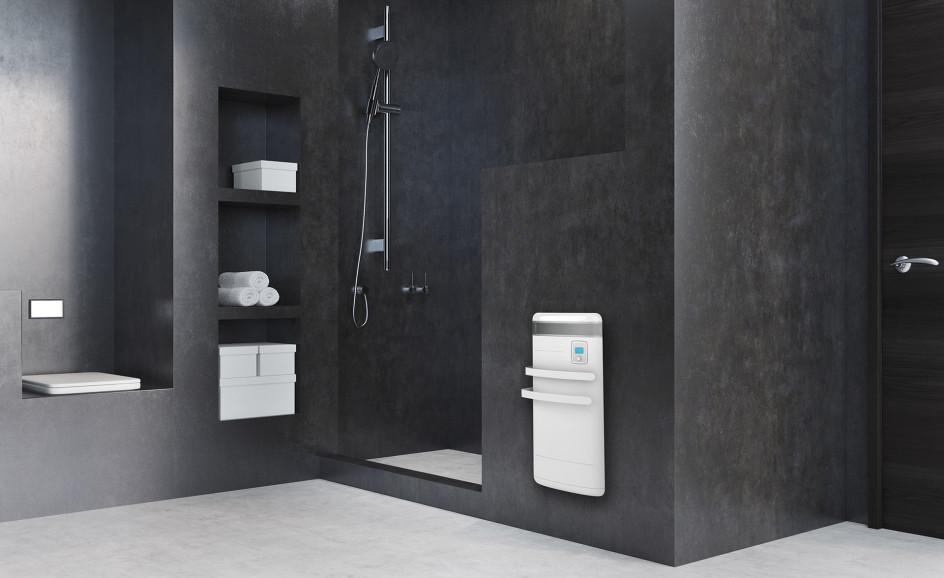 Chauffage de salle de bains Airelec Indigo Blanc d'une puissance de 1400 W
