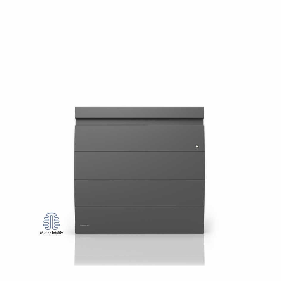 Radiateur électrique Airelec Inova 2 Horizontal - Anthracite d'une puissance de 1250 W
