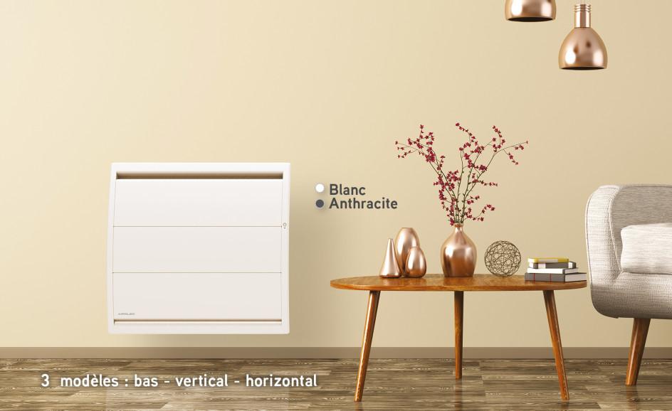Radiateur électrique Airelec Airévo Bas - Blanc d'une puissance de 750 W