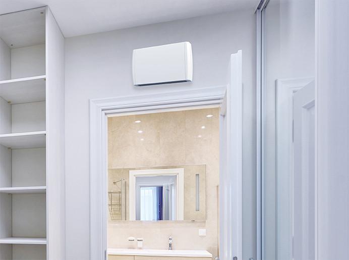 Chauffage de salle de bains Airelec Airtop Avec minuterie 15 min. d'une puissance de 1000/2000 W