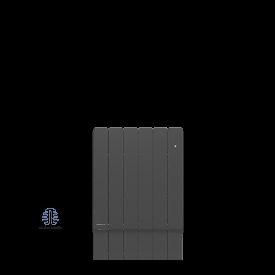 Radiateur électrique Airelec Fontéa Horizontal - Anthracite d'une puissance de 1250 W