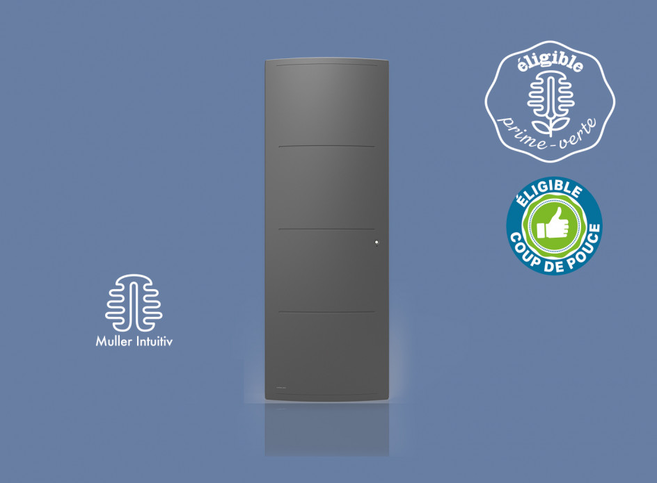 Radiateur Airelec Adéos Vertical - Anthracite d'une puissance de 1000 W