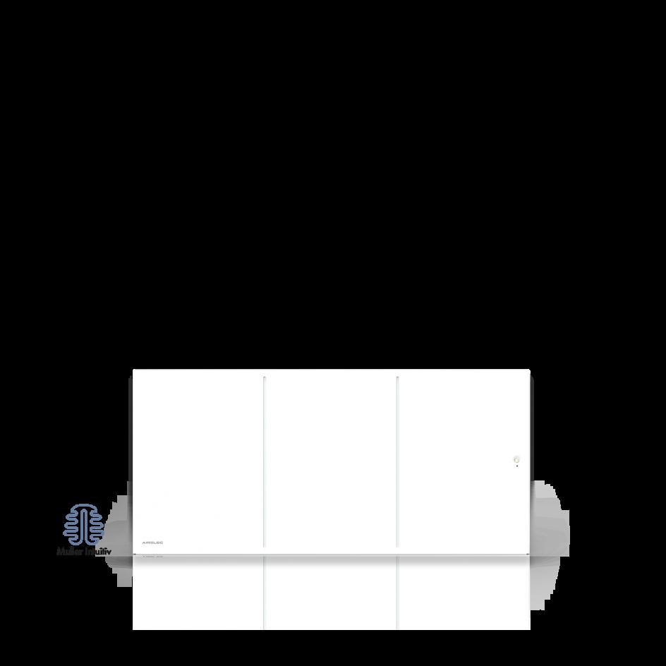 Radiateur électrique Airelec Ozéo Bas - Blanc d'une puissance de 1500 W