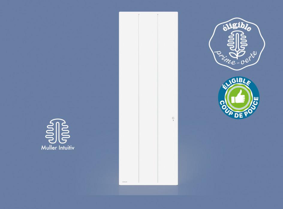 Radiateur Airelec Ozéo Vertical - Blanc d'une puissance de 1500 W