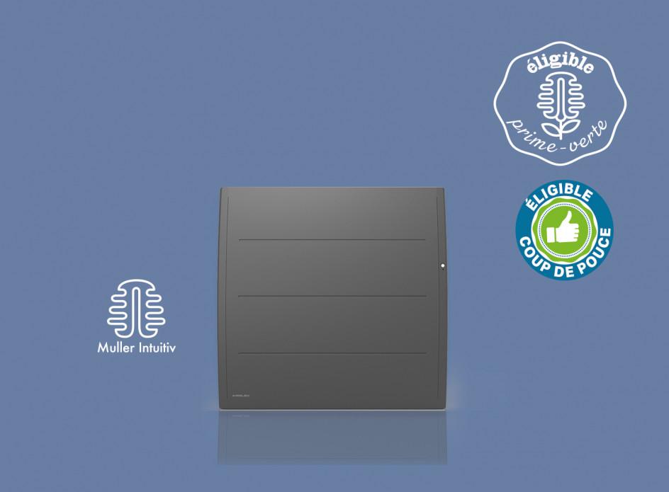 Radiateur Airelec Adéos Horizontal - Anthracite d'une puissance de 1000 W