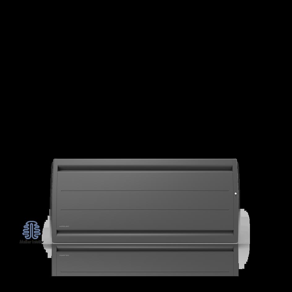 Radiateur électrique Airelec Airévo Bas - Anthracite d'une puissance de 1500 W