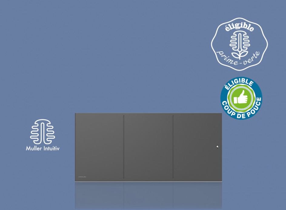 Radiateur Airelec Ozéo Bas - Anthracite d'une puissance de 750 W