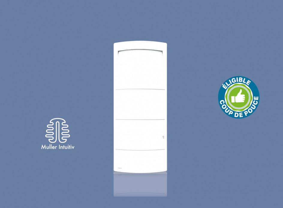 Radiateur Airelec Novéo 2 Vertical - Blanc d'une puissance de 1500 W