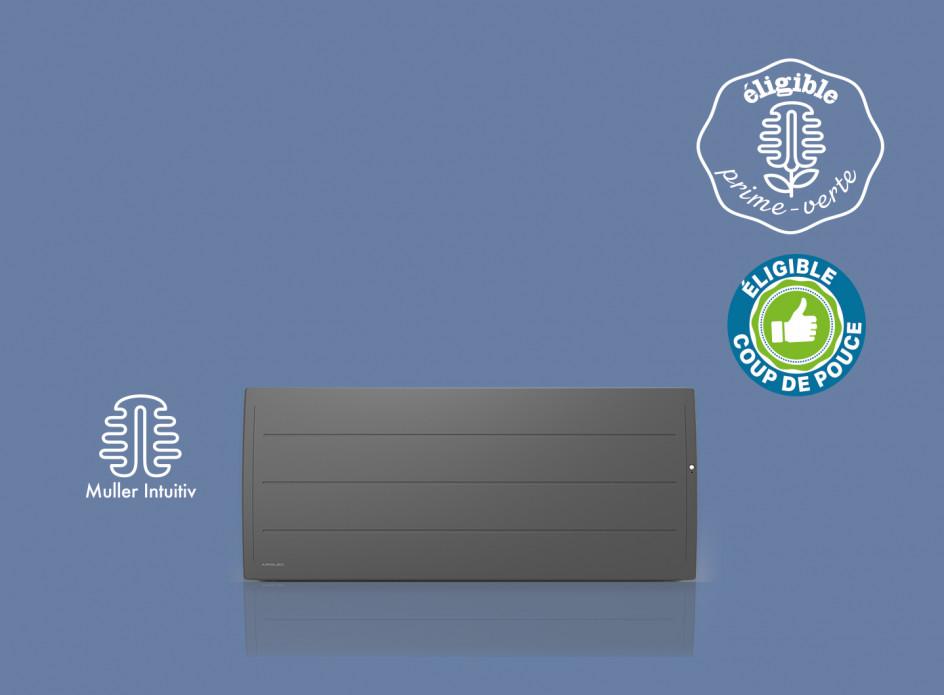 Radiateur Airelec Adéos Bas - Anthracite d'une puissance de 1000 W