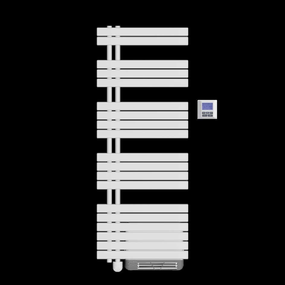 Chauffage de salle de bains Airelec Osya Collecteurs à gauche d'une puissance de 1750 W