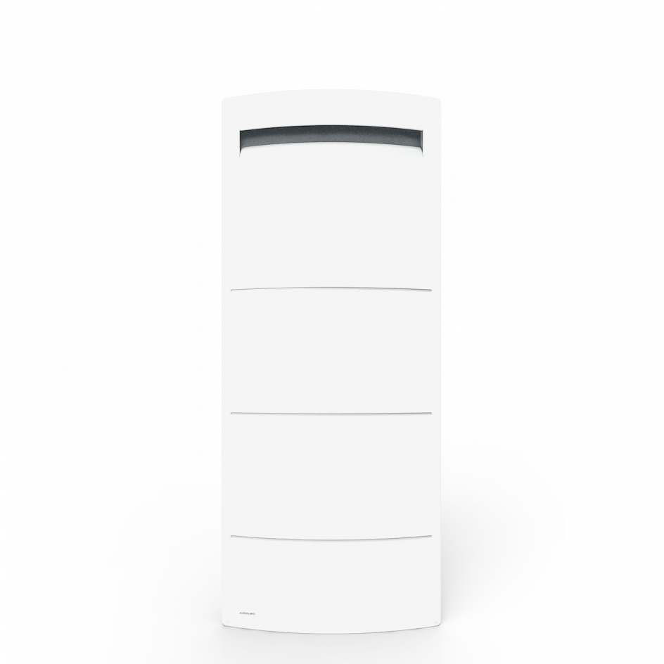 Radiateur Airelec Novéo 2 DP Vertical - Blanc d'une puissance de 1000 W