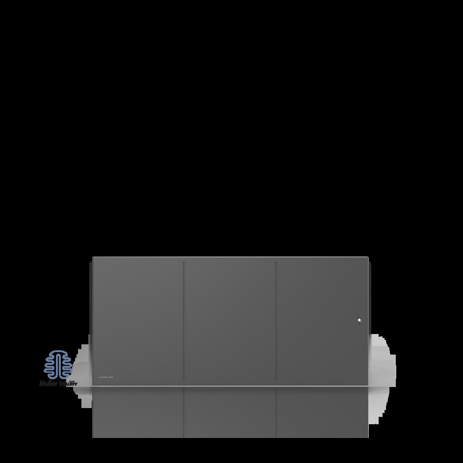 Radiateur électrique Airelec Ozéo Bas - Anthracite d'une puissance de 1500 W