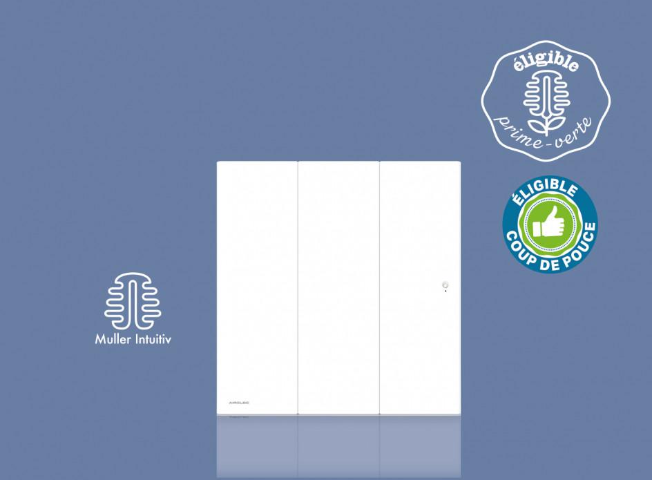 Radiateur Airelec Ozéo Horizontal - Blanc d'une puissance de 750 W