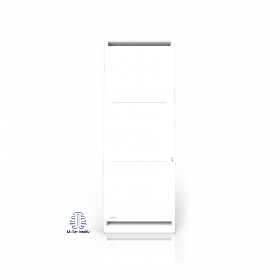 Radiateur électrique Airelec Airévo Vertical - Blanc d'une puissance de 1000 W