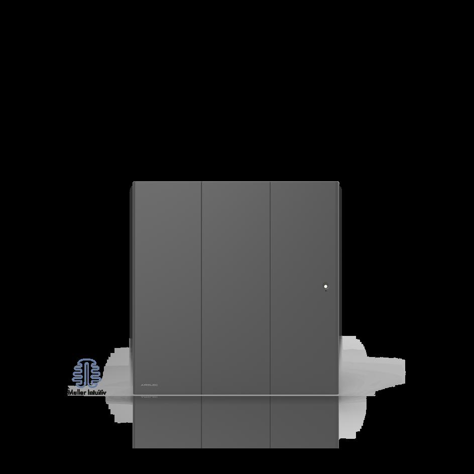Radiateur électrique Airelec Ozéo Horizontal - Anthracite d'une puissance de 2000 W