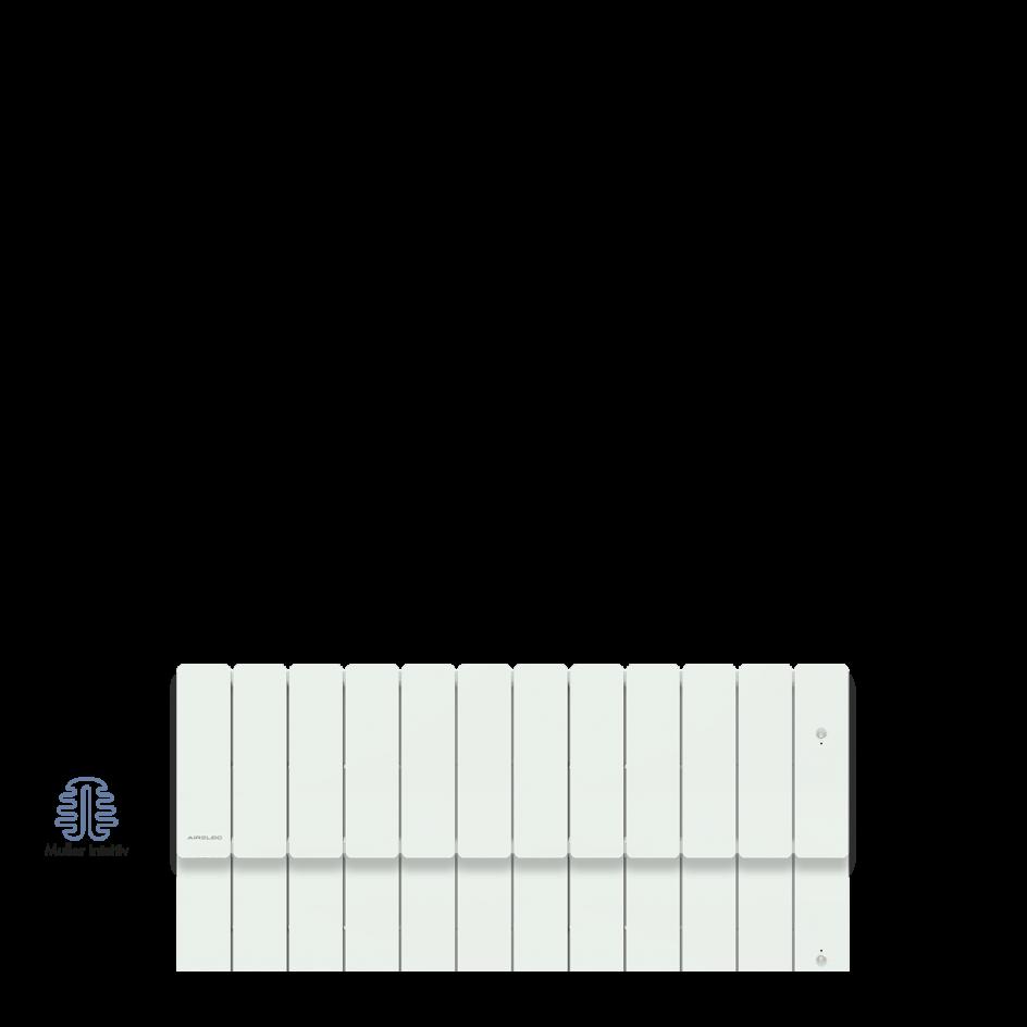 Radiateur électrique Airelec Fontéa Plinthe - Blanc d'une puissance de 1500 W