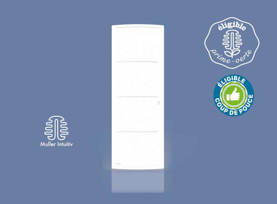 Radiateur Airelec Adéos Vertical - Blanc d'une puissance de 1500 W
