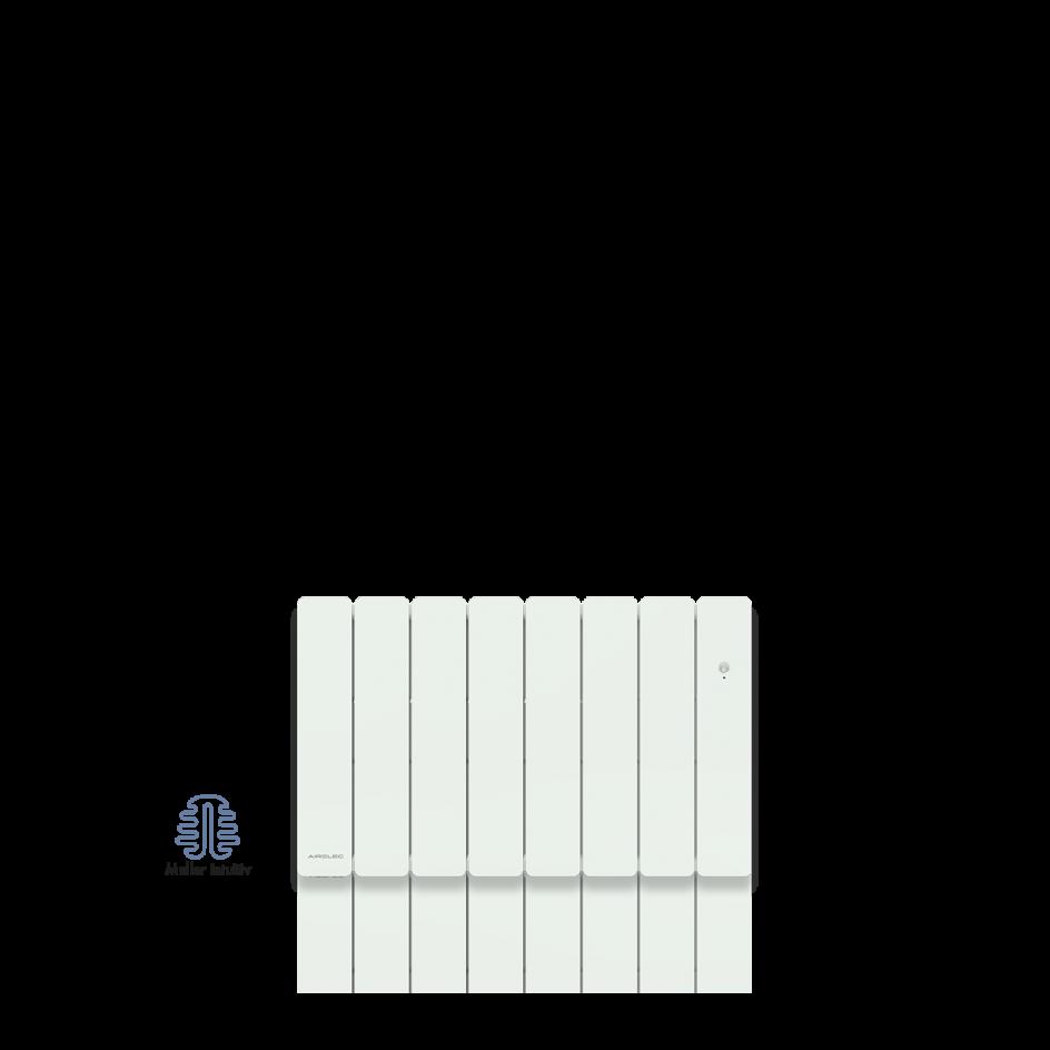 Radiateur électrique Airelec Fontéa Bas - Blanc d'une puissance de 1000 W