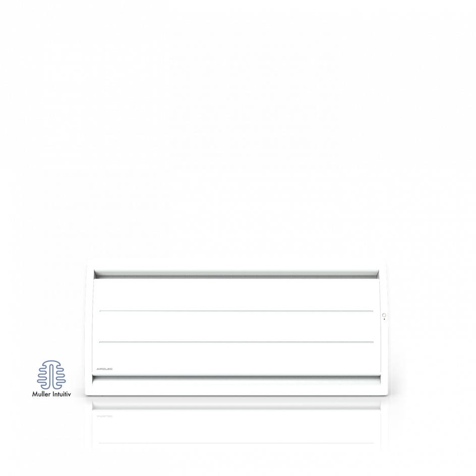 Radiateur électrique Airelec Airévo Bas - Blanc d'une puissance de 1000 W