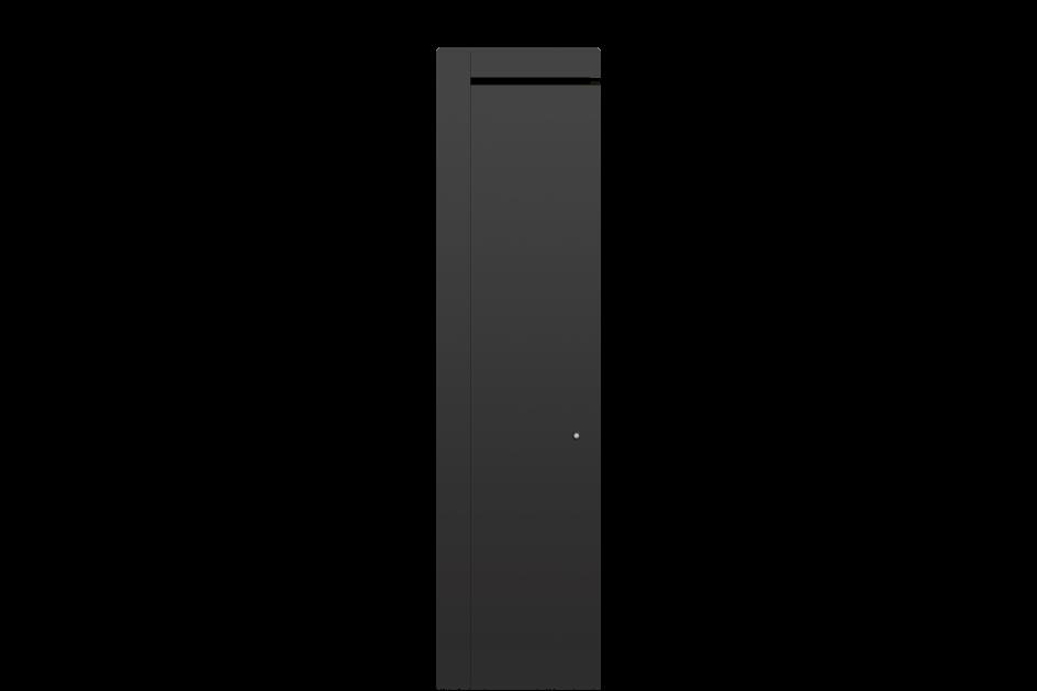 Radiateur électrique Airelec Naomi Vertical - Gris d'une puissance de 1500 W