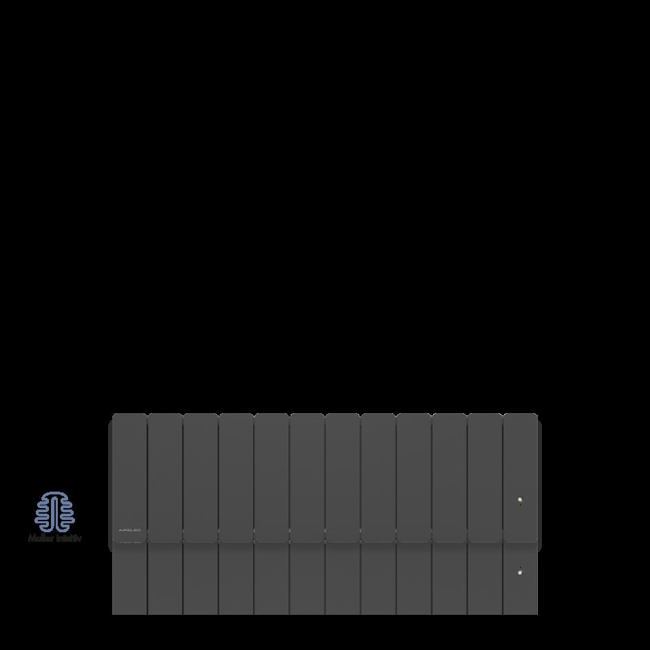 Radiateur électrique Airelec Fontéa Plinthe - Anthracite d'une puissance de 1000 W