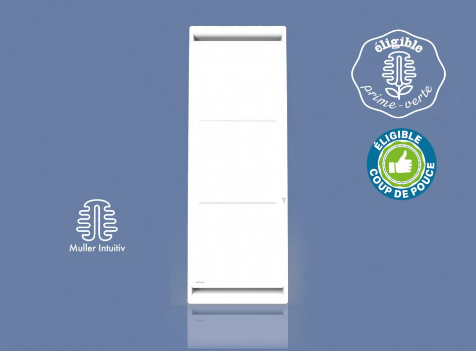 Radiateur Airelec Airévo Vertical - Blanc d'une puissance de 1500 W