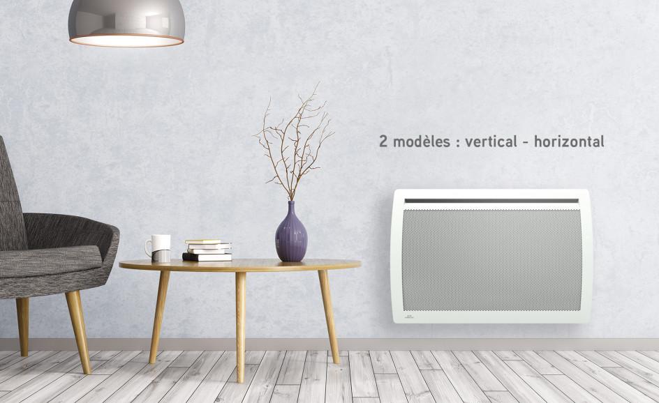 Panneau rayonnant Airelec Aixance Digital Horizontal d'une puissance de 1500 W