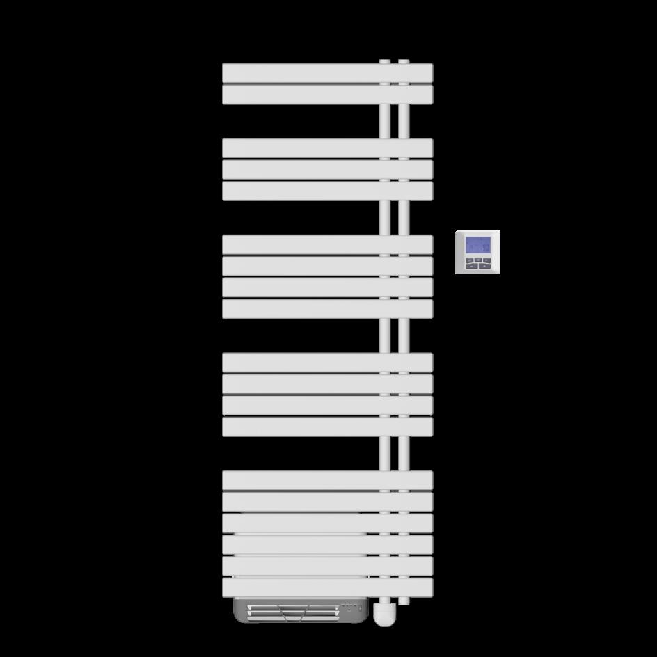 Chauffage de salle de bains Airelec Osya Collecteurs à droite d'une puissance de 1500 W
